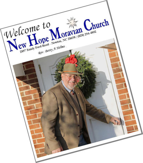 Member Directory for New Hope Moravian Church 2897 Sandy Ford Road Newton North Carolina 28658