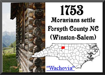 Moravians settle Western North Carolina